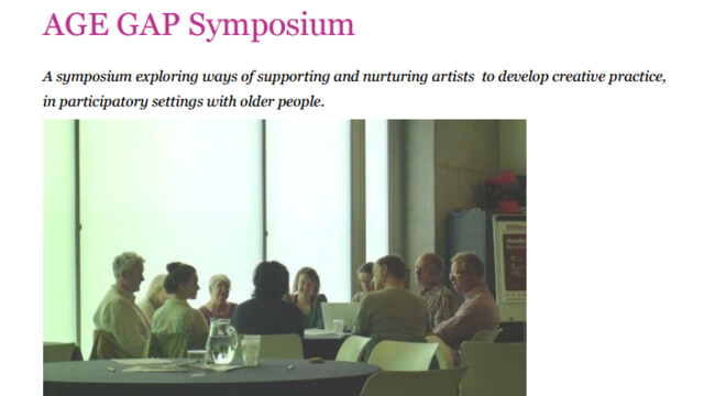 ArtWorks London Age Gap Symposium