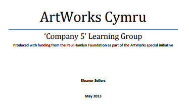 ArtWorks Cymru 'Company 5' Learning Group
