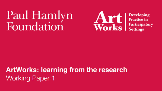 ArtWorks: Learning from the Research Working Paper 1
