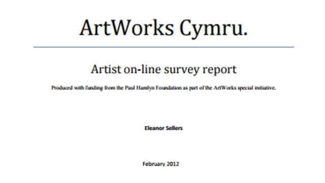 ArtWorks Cymru Artist on-line survey report