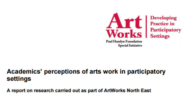 Academics' perceptions of arts work in participatory settings