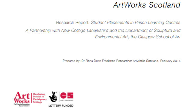 ArtWorks Scotland Student Placements in Prison Learning Centres