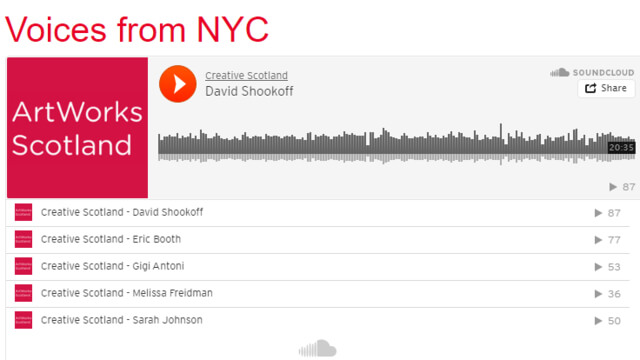 ArtWorks Scotland: Voices from NYC