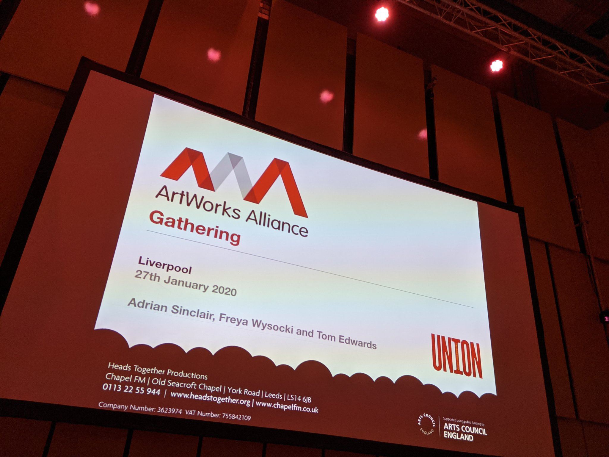 ArtWorks Alliance Gathering January 2020 report